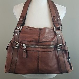 Fossil Vintage Collection Brown Leather Bag